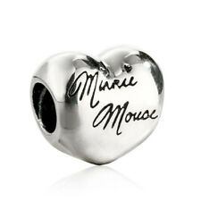 authentic Sterling Silver Jewelry Charm Beads Disney Mouse Signature Charms Bead