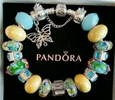 AUTHENTIC PANDORA BRACELET Sterling Silver with European Beads & Charms #232