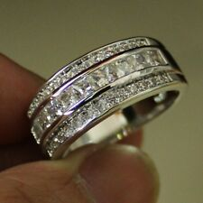Fashion Women Simple Ring Silver Plated Circle Finger Ring Engagement Gift