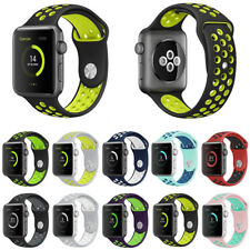 Silicone Replacement Apple Watch Sport Band Nike+ For Series 3 2 1 38mm 42mm