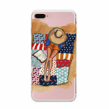 Fashional Beautiful Girl Phone Cases For iPhone 7 6 6S Plus Drinking Design