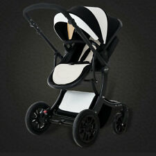 Baby Stroller Baby Foldable Pushchair PU Jogger Carriage Infant Travel System