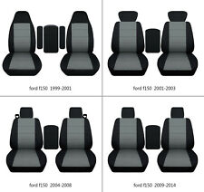 Ford f150 1999-2014 cotton car seat covers black-steel gray, select  seat style