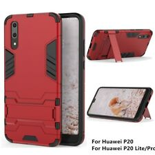 Shockproof Rugged Armor Case Hard PC+TPU Kickstand Cover For Huawei P20 Lite Pro