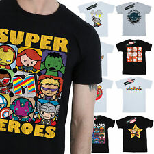 Marvel Kawaii T-Shirt Mens Official Merchandise