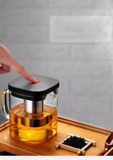 Square Glass Teapot Good Clear Borosilicat With 304 Stainless Steel Infuser