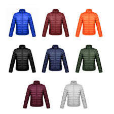 US Men's Packable Down Jacket Ultralight Stand Collar Coat Winter Slim Puffer