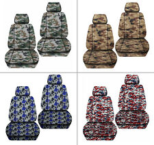 Fits JK wrangler  front car seat covers digital camo green/blue/red/navy blue...