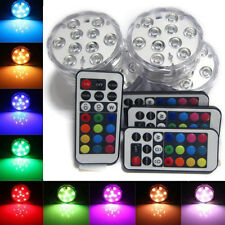 10 LED Submersible Light Underwater RGB Waterproof Light Remote Control Lights