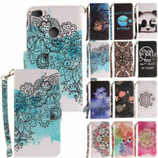 Printed Pattern Leather Wallet Flip Case Cover For Huawei P10 P9 P8 Lite 2017