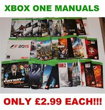 Xbox One Manuals Inserts Booklets & Box Art - Only £2.99 - FREE 1ST CLASS