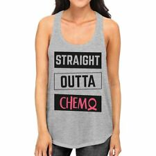 Straight Outta Chemo Breast Cancer Womens Grey Tank Top