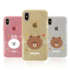LINE FRIENDS Glitter Jelly Slim Phone Case Cover For Samsung Galaxy S9/S9 Plus