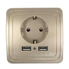Wall Outlet Power Socket Usb Charger Ac Port Dual Panel Standard Plug Charging