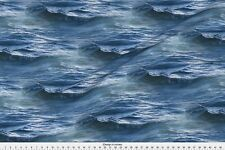 Ocean Water Sea Waves Fabric Printed by Spoonflower BTY