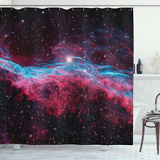 Nebula Shower Curtain Outer Space Stars Galaxy Print for Bathroom