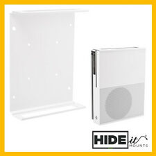 HIDEit X1S Xbox One S Vertical Wall Mount Bracket (White/Black) HIDE IT Display
