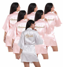 Personalized Silk Satin Bridal Wedding Bridesmaid Kimono Dressing Gown Robe