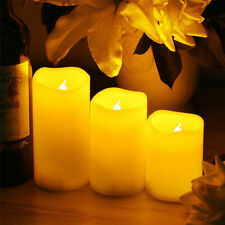 Romantic Flickering Flameless LED Candle Light with Timer for Home Party Wedding