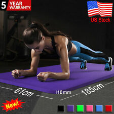 Yoga Mat Pilates Fitness Exercise Gym Workout Thick Non-Slip Pad 183*61*1 CM