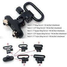 6 Styles Black 1''/1.25'' QD Quick Detach Sling Swivel+M-lok Rail Attachment Set
