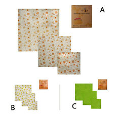 Beeswax Food Wraps Assorted 3 Pack Eco Friendly Reusable Plastic Free Storage
