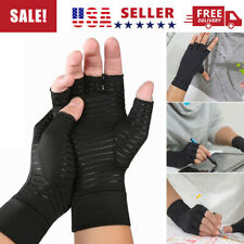 1 Pair Anti-Arthritic Compression Gloves Copper Hand Joint Pain Relief Gloves