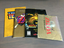 Video Game Instruction Manuals Booklets Books MK4 Zelda Ocarina Tetris N64 NES