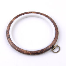 Strong Durable Wood Plastic Frame Embroidery Hoop Round Loop For Cross Stitch
