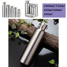 350-1000ml Stainless Steel Vacuum Insulated Water Bottle Double Wall New Silver