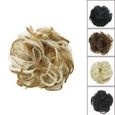 As Human Real Messy Rose Bun Curly Easy-To-Wear Stylish Hair Scrunch Piece P6R7