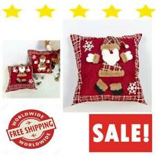 Christmas Pillow Covers 18x18 Set Of 2 Pack Gold Blue Under Vintage Buffalo And