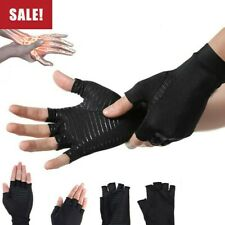 Compression Gloves Copper Arthritis Fit Hand Support Arthritic Joint Pain Relief