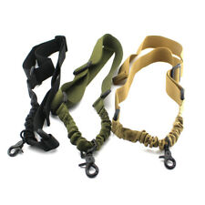 Tactical 1 Single Point Adjustable Bungee Airsoft Rifle Gun Sling Strap System