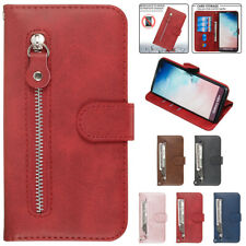 For Samsung Note 10+ S10 A50 Zipper Leather Wallet Case Flip Card Magnetic Cover
