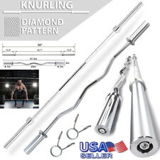 Olympic Standard Barbell Rod 5&7ft Solid Bar Gym Weight Lifting Workout Training