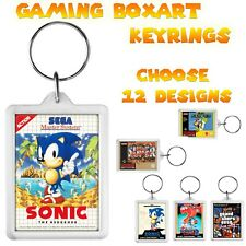 retro gaming box art keyring snes ps2 sega | Choose 12 designs | gift party bags