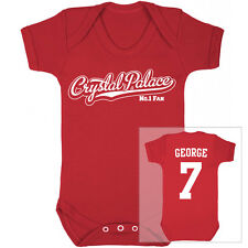 CRYSTAL PALACE Football Personalised Baby Bodysuit Vest