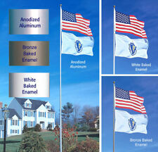 SunSetter 20' Telescoping Flagpole with Free American Flag (Factory Direct)