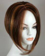 Short Straight Hair Wig w/Wedge Cut - Uneven Bob Wigs
