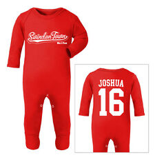 SWINDON TOWN Football Personalised Baby SleepSuit