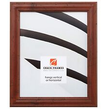 "Craig Frames 1"" Brown Traditional Wood Single Hanging Picture Frame Poster Frame"