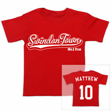 SWINDON TOWN Football Personalised Boys/Girls T-Shirt