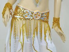 New High Quality Belly Dance Costume Handmade Performance Belt 12 colours