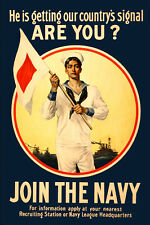 Vintage POSTER.Stylish Graphics.Join the U.S Navy.Home Art Decor.1223