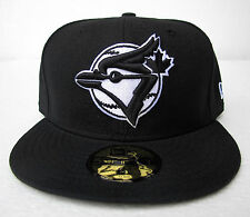 Toronto Blue Jays Black On White All Sizes Fitted Cap Hat by New Era