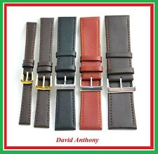 12mm up to 30mm Brown, Black, Tan Leather Watch Straps, Top Quality ECO