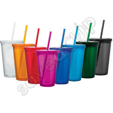 WHOLESALE LOTS INSULATED ACRYLIC TUMBLERS CUPS 16 OZ
