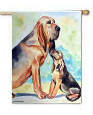BLOODHOUND MOM & PUP FLAG HOUSE OR GARDEN SZ