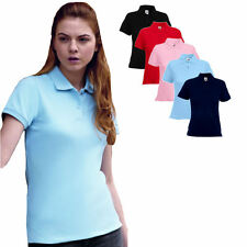 Fruit of the Loom Damen Fit Polo Shirt XS S M L XXL Neu